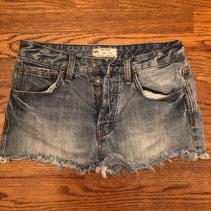 EUC Free People Denim Shorts